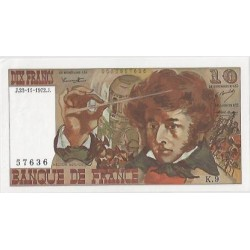 FRANCE 10 FRANCS BERLIOZ 23/11/1972 K.9 SPL