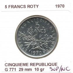 5 FRANCS ROTY 1970 SUP/NC