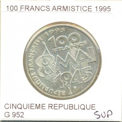 FRANCE 100 francs ARMISTICE 1995 SUP