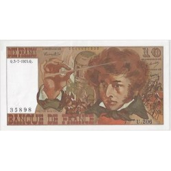FRANCE 10 FRANCS BERLIOZ 03/07/1975 U.206 SPL