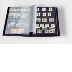 ALBUM TIMBRES 32 PAGES ROUGE 309224