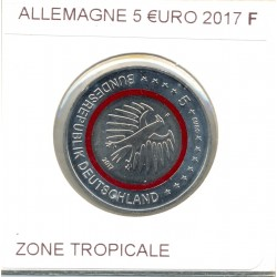 ALLEMAGNE 2017 F 5 EURO ZONE TROPICALE SUP