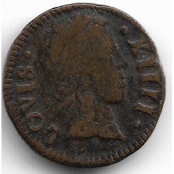 LOUIS XIV (1643-1715) DENIER TOURNOIS 1649 A (PARIS) TB+