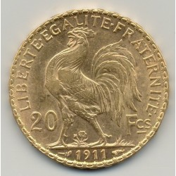 FRANCE 1911  20 Francs OR COQ etat SUP GOLD ORO