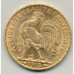 FRANCE 1913 20 Francs OR COQ  etat SUP OR GOLD ORO
