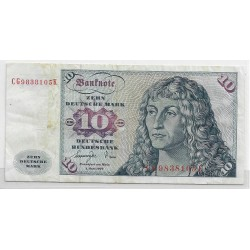 ALLEMAGNE 10 MARKS 01/06/1977 SERIE CG TB+