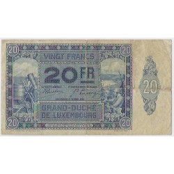 Luxembourg 20 FRANCS 01/10/1929 TB+