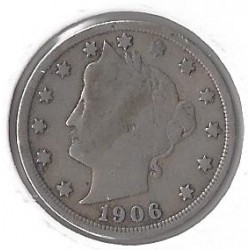 AMERIQUE (U.S.A) 5 CENTS 1906 TB+