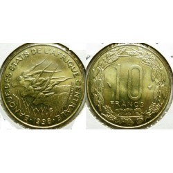 B.E.A.C ( central african states ) 10 FRANCS 1982 SUP