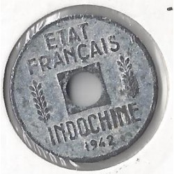 INDOCHINE 1/4 CENT 1942 TB
